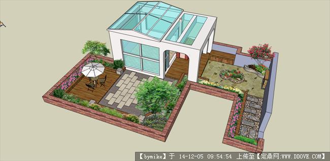 原创屋顶花园设计效果图
