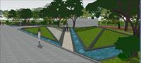 工业园景观方案SketchUp精细设计模型