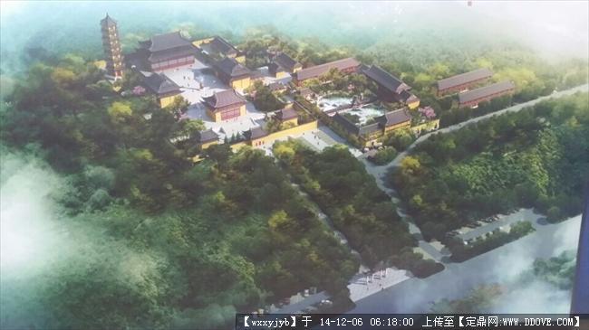 某寺廟規劃設計鳥瞰圖的下載地址,建筑效果圖,其他圖