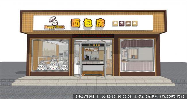 面包蛋糕店su模型