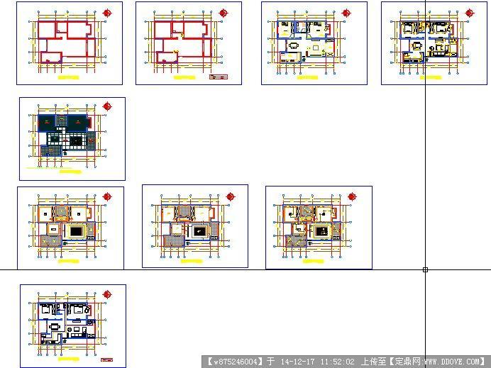 样品名都房CAD平面图+效果图3张cad打断中怎么图片