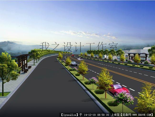 道路景观设计效果图jpg
