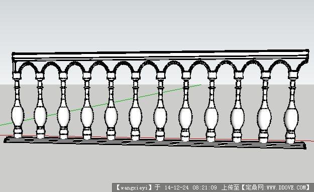 欧式栏杆su模型图片