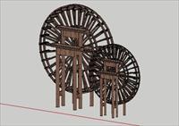 木水车模型
