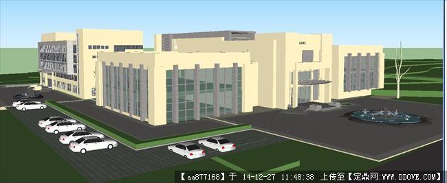 一个学校su精品建筑设计模型