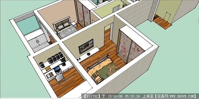 室内设计精致草图模型的下载地址
