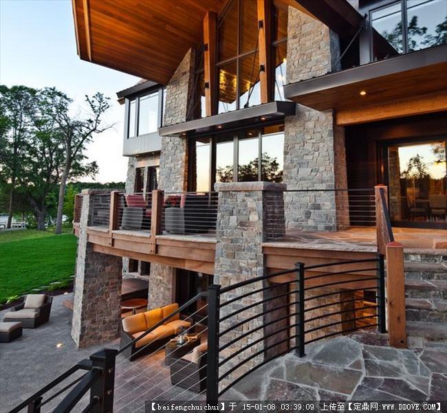 美式乡村别墅建筑设计方案