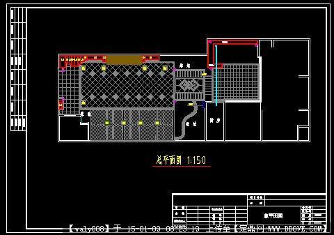 某详细别墅庭院设计方案平面图