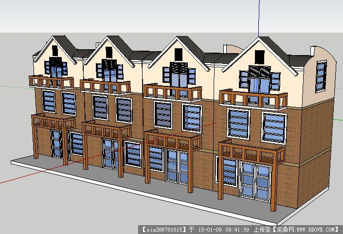 单体建筑设计方案su模型