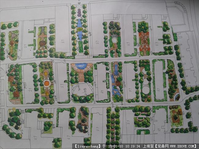 园林小区设计手绘平面图