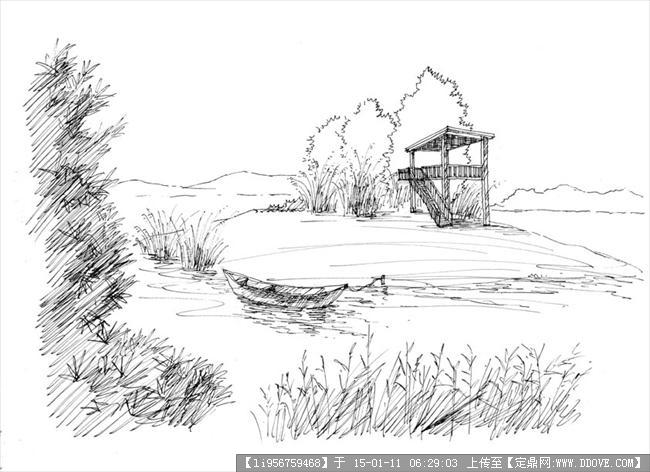 定鼎网 定鼎园林 园林效果图 手绘效果 大量园林设计手绘