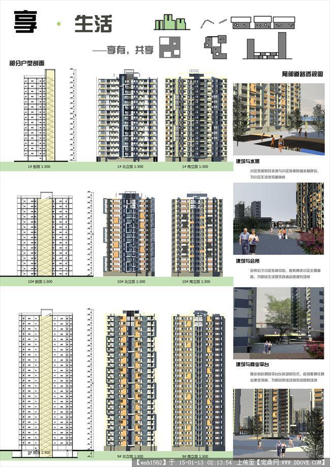 学生居住区规划设计案例展板