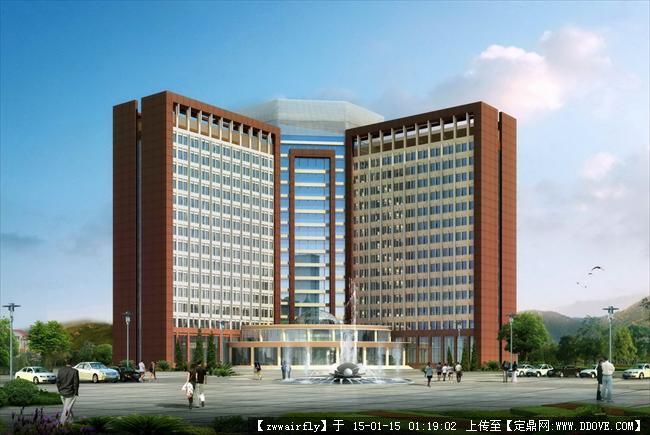 小区详细规划设计方案,含单体酒店住宅以及鸟瞰效果图、单体