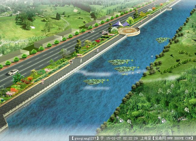 道路景观,滨水景观效果图的下载地址,园林效果图,滨水