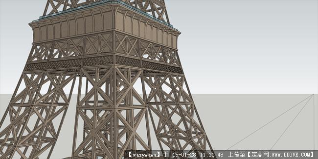 绝对精细埃菲尔铁塔su模型!