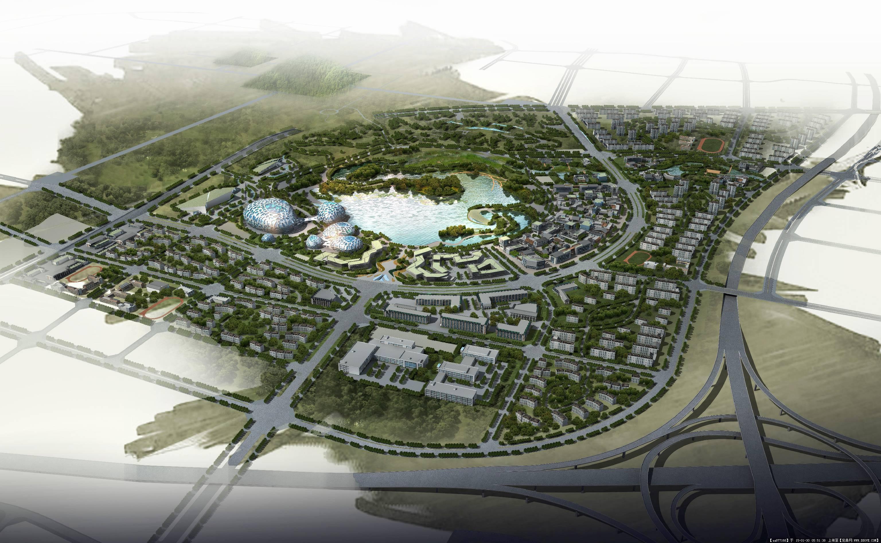 西安某区域城市概念性规划设计文本,一套非常优秀的城市规划设计案例图片