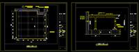 小区大堂玻璃雨棚CAD图纸