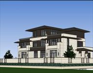 双拼别墅SketchUp建筑精品模型
