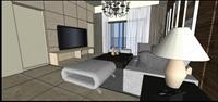室内欧式客厅 SketchUp室内装饰精品模型