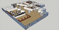 办公空间CAD方案图