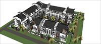 Sketch Up 精品模型---徽派-中式别墅