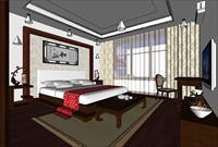 现代风格客厅非常不错的SketchUp模型