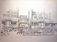 建筑手绘素描效果图