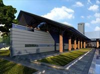 扬州会所方案一商业建筑设计效果图