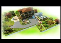 别墅庭院景观设计方案图